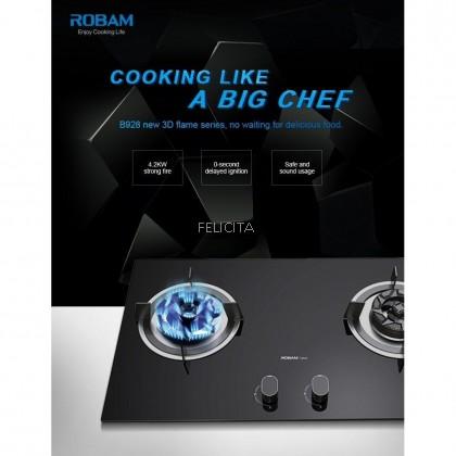 ROBAM B928 Two-Burner Glass Cooktop ROB-B928