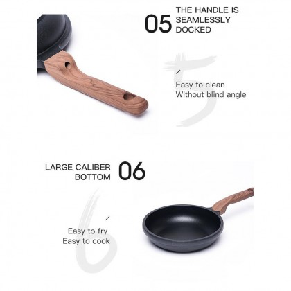 CAROTE 90s Collection 24 cm Diamond Coating Non-Stick Frying Pan With Lid