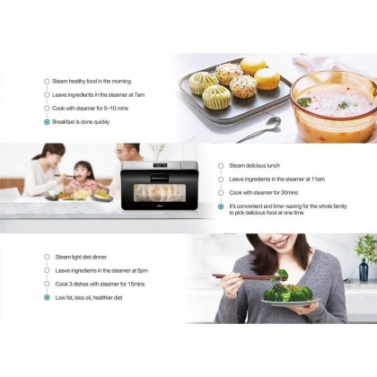 Robam Desktop Steam Oven ST10 Free Standing 25Litres 1650W --READY STOCK --